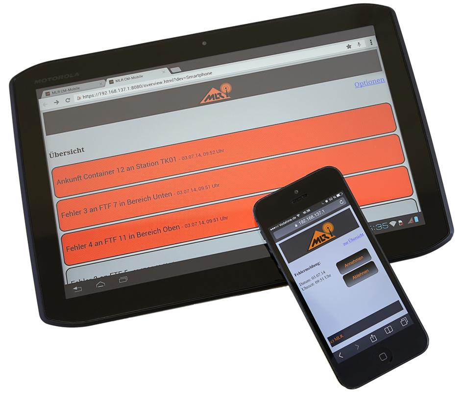 Web-App für fahrerlose Transportsysteme