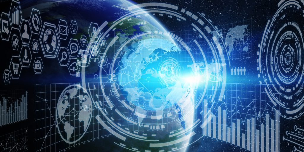 Network and data exchange over planet earth in space (Bild: @sdecoret/Fotolia.com)