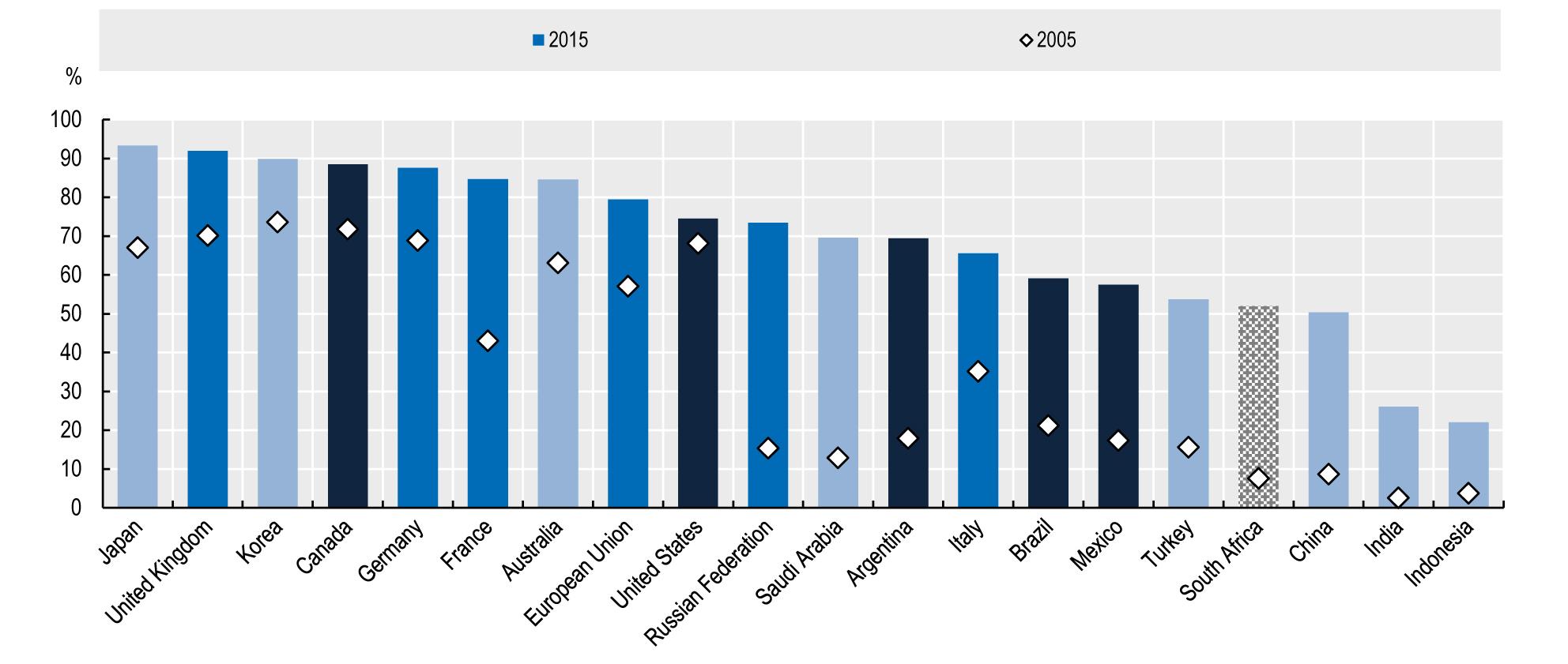 Internetnutzer in den G20-Staaten