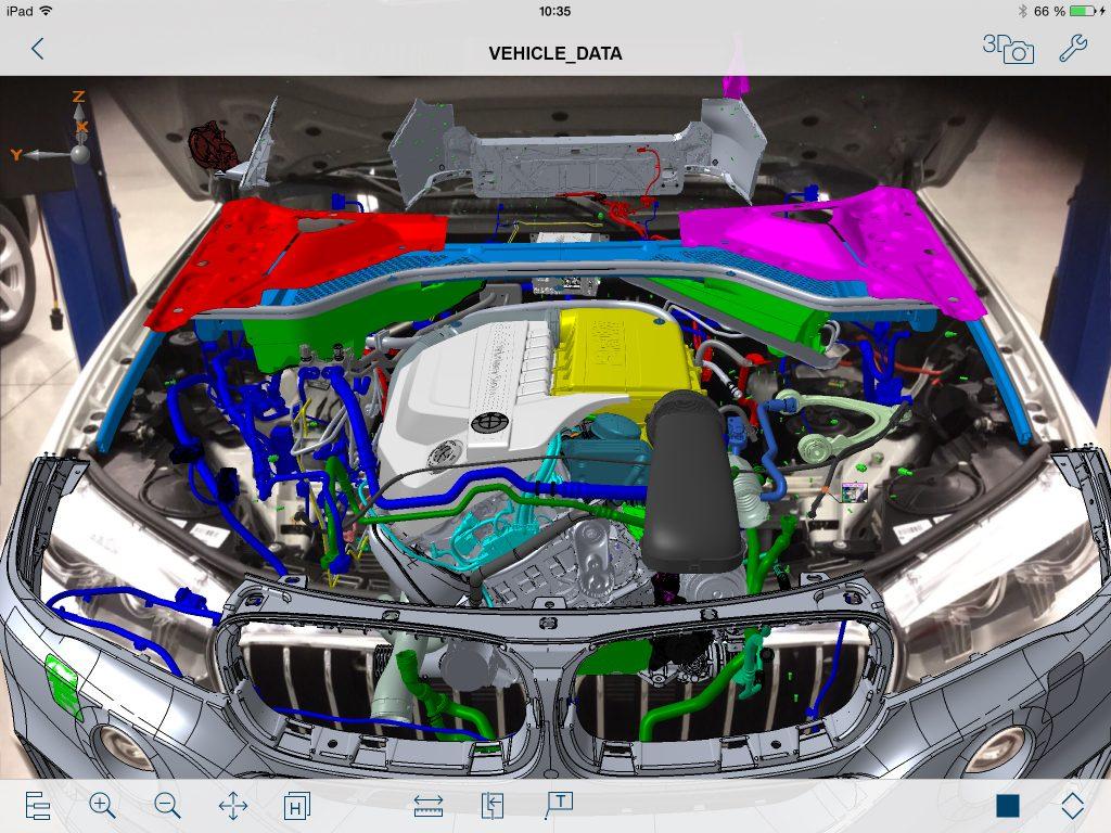 Visual Inspect AR erm?glicht das passgenaue ?berlagern des CAD-Models mit dem Video. (Bild: Faro Europe GmbH & Co. KG)