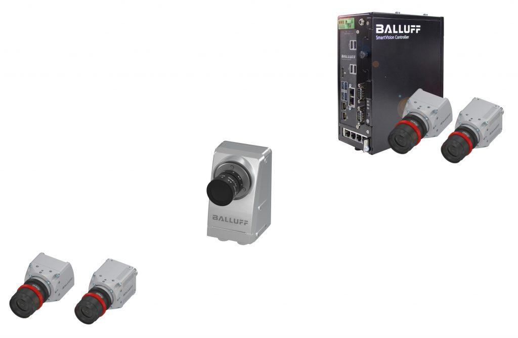 Alle Komponenten der Smart Vision Solutions folgen den immer gleichbleibenden, webbasierten Bedienkonzept BVS-Cockpit. (Bild: Balluff GmbH)