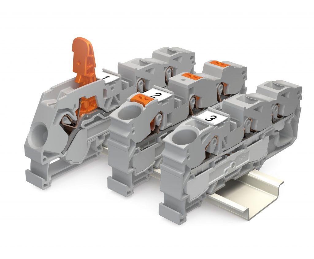 Je nach Präferenz gibt es die Topjob S-Reihenklemmen jetzt mit Hebel, Drücker oder Betätigungsöffnung. (Bild: WAGO Kontakttechnik GmbH & Co. KG)