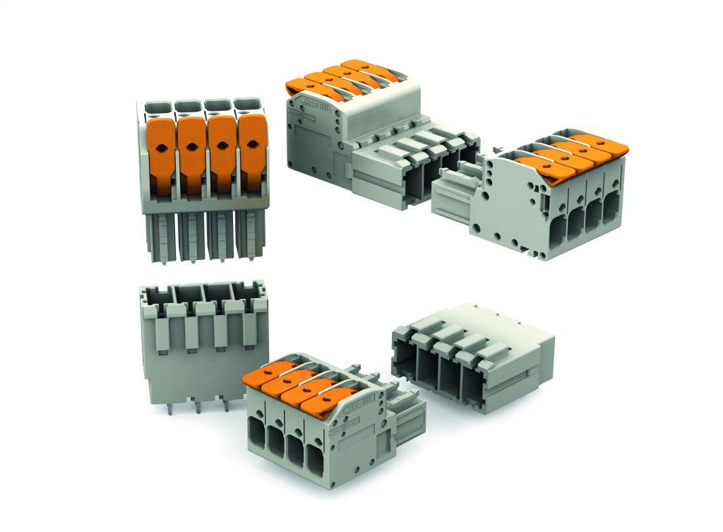Die Steckverbinderfamilie MCS Maxi 6 eignet sich für Leiterquerschnitte bis 10mm² und hat einen integrierten Hebel, der eine schnelle Verdrahtung in der Hand ermöglicht. (Bild: WAGO Kontakttechnik GmbH & Co. KG)