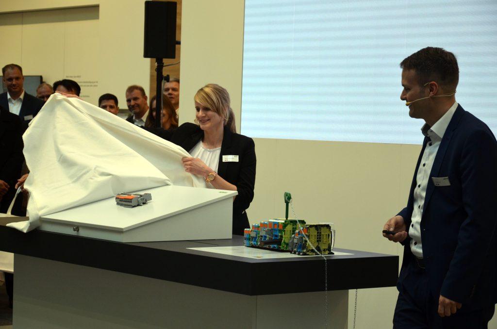 Auf der diesjährigen Hannover Messe wurden die neuen Reihenklemmen der Öffentlichkeit vorgestellt. (Bild: WAGO Kontakttechnik GmbH & Co. KG)