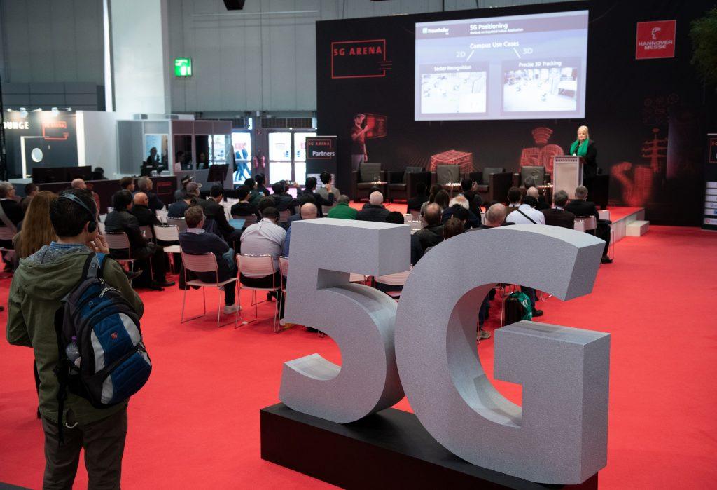 In der 5G Arena wurden die neuesten Entwicklungen, Produkte und Lösungen der 5G Mobilfunkgeneration in einem echten 5G Testbed präsentiert. (Bild: Deutsche Messe AG)