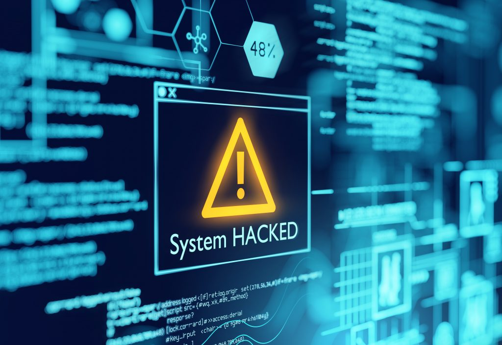A computer popup box screen warning of a system being hacked, compromised software enviroment. 3D illustration. (Bild: ©James Thew_AdobeStock_263959295)